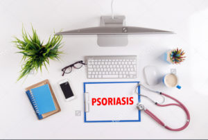 stock-photo-office-desk-with-psoriasis-paperwork-and-other-objects-around-top-view-404983309